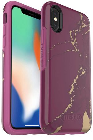 OtterBox Symmetry Series Case for iPhone Xs & iPhone X - (Purple Marble) for Sale in Richmond, VA