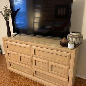 Vintage Blonde Solid Wood Stanley Dresser & Nightstand for Sale in Baltimore, MD