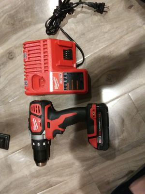 Milwaukee M18 drill with battery and charger for Sale in Pasadena, CA