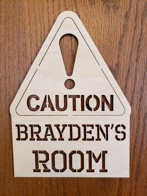 Personalized wood kids bedroom door sign for Sale in Quincy, IL