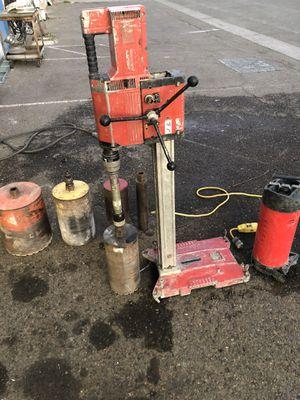 Hilti DD250 core machine with bits for Sale in Sacramento, CA