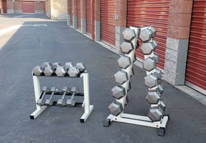 hexagon dumbells with rack 750lbs for Sale in Simi Valley, CA