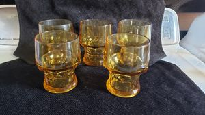 Amber drinking glasses 5 for Sale in Torrance, CA