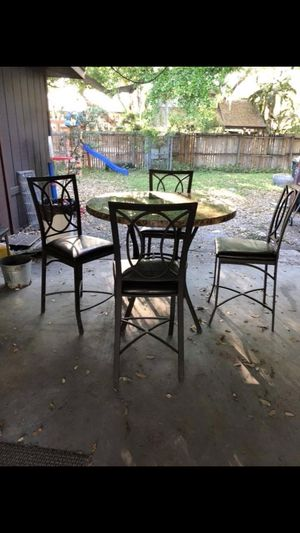 5 piece faux marble table and chairs for Sale in Lakeland, FL