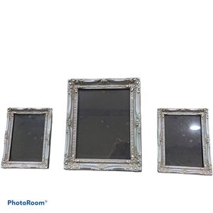 Antique Mat Silver Photo Frame Set for Sale in Humble, TX