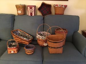 Longaberger basket collection for Sale in Woodbridge, VA