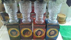 Lord of the rings glass goblet collection for Sale in Patterson, CA