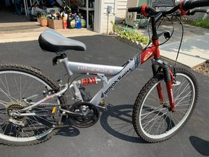 "Honda Racing 24"", Silver & red full suspension mountain bike, 5 speed for Sale in Bristow, VA"