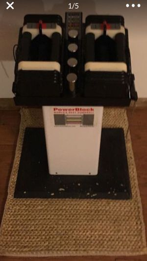 Power block adjustable dumbbells with stand for Sale in Boynton Beach, FL