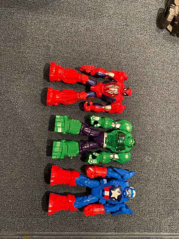 Hulk captain America and spider man