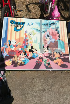 Vintage disney babies picture with frame for Sale in Sacramento, CA