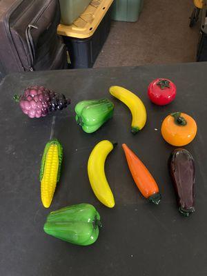 Antique murano glass hand blown veggies for Sale in Clovis, CA