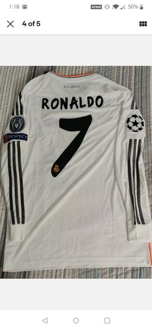 2014 REAL MADRID Criatiano ronaldo ucl final jersey for Sale in Franklin Square, NY