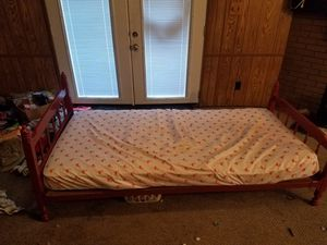 Wood frame bed and mattress for Sale in Owensboro, KY