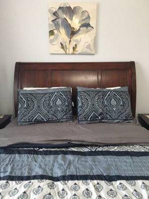 New Bedroom Set - Drawer Chest, Sleigh Headboard for Sale in Dulles, VA