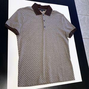 Gucci Men's Brown Diamante Print Polo XS for Sale in Miami, FL