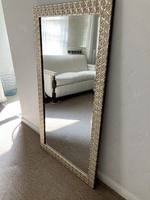 LARGE Floor/Leaning/Wardrobe/Full Length Beveled Glass Mirror for Sale in Los Angeles, CA