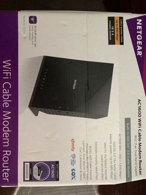 Cable Modem/Router Netgear AC1600 for Sale in League City, TX