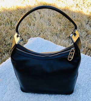 Genuine Black Leather Gucci Made In Italy Shoulder Bag Purse for Sale in Lewisville, TX