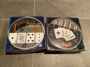 2 sets of BRAND NEW gambling coasters for Sale in Naperville, IL