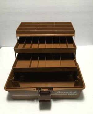 Vintage Fenwick 1060 Fishing Bait Tackle Box 23 Compartments for Sale in Puyallup, WA