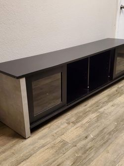 """Industrial 72"""" TV Stand in Black And Cement Finish for Sale in Ontario,  CA"""