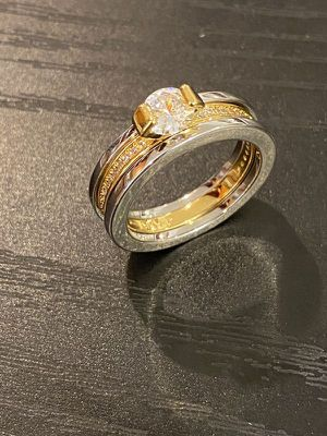 18K Gold plated Engagement/ Wedding Ring - Code / Double for Sale in Sacramento, CA