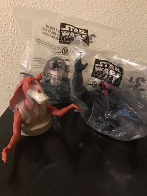 Lot of 3 Star Wars cup toppers Phantom Menance for Sale in Gilbert, AZ