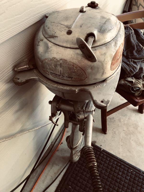 Johnson Sea Horse Outboard Boat Motor.