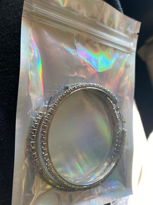 Brand new never worn silver diamond hoop earrings for Sale in Charlotte, NC