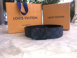 18d39cc3b8df Black checkered Louis Vuitton belt for Sale in Long Beach