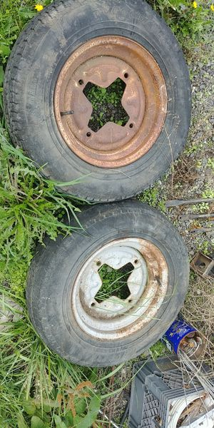 Trailer wheels & tires x2 for Sale in Tacoma, WA