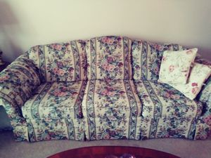 Couch, wingback chair & Ottoman for Sale in Kent, WA
