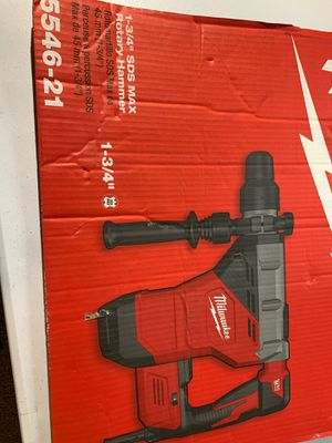 Milwaukee 1-3/4 sds max rotary hammer for Sale in University Place, WA