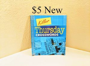 New Thursday Crosswords Crossword Puzzles Book for Sale in Lewisville, TX