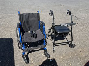 Wheelchair and Walker with Seat for Sale in Chico, CA