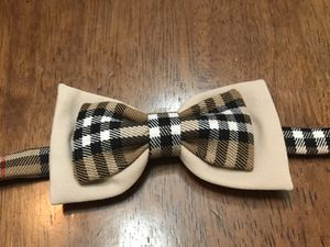 Burberry print handmade bow tie for Sale in Fairfax, VA