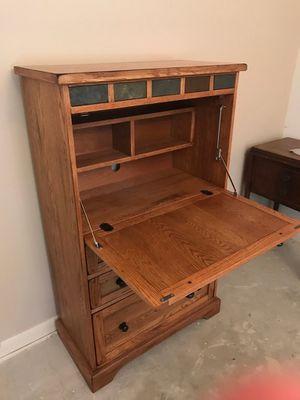 Solid Oak Computer Hutch for Sale in Houston, TX