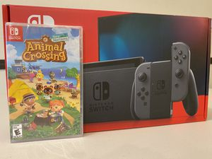 BRAND NEW Nintendo Switch Gray Joy Con w/ Animal Crossing Game for Sale in Denver, CO