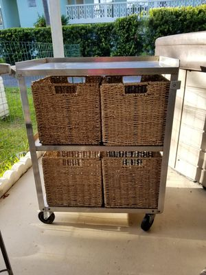 Stainless Steel Cart with baskets for Sale in West Palm Beach, FL