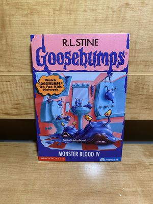 Monster blood IV goosebumps paperback for Sale in Miramar, FL