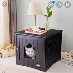 🎗N E W 🎗 Pet Cat/ Small Dog House/ End Table Night Stand Litter Box for Sale in Anaheim, CA