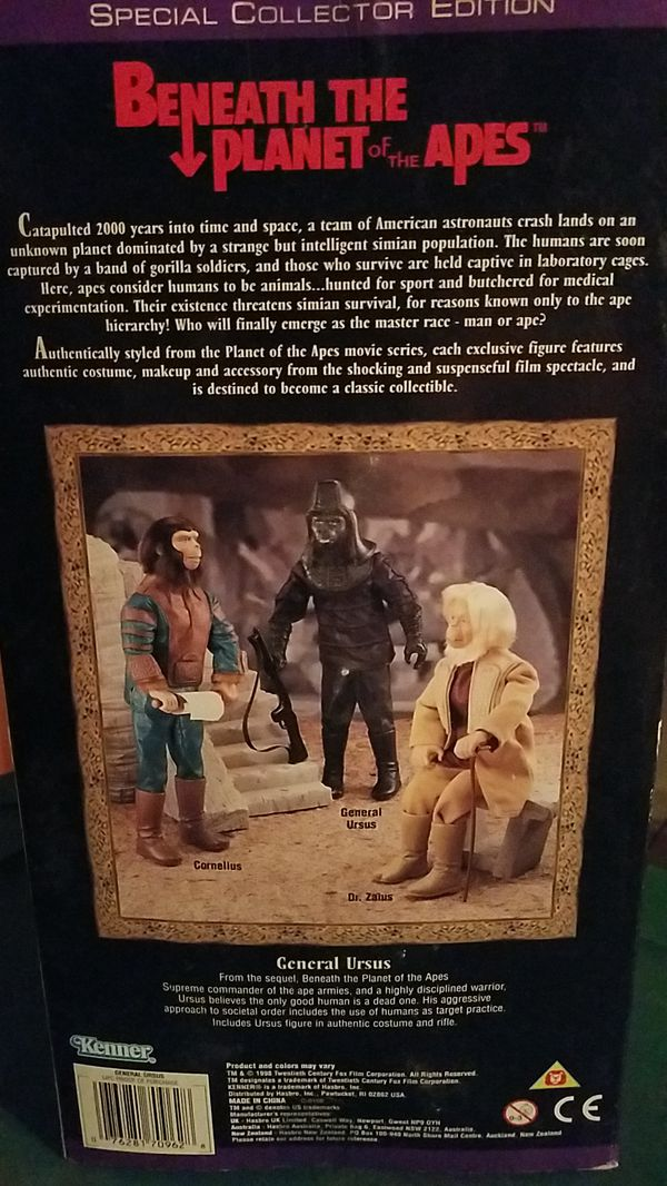 BENEATH THE PLANET OF THE APES GENERAL URSUS ACTION FIGURE NEW IN BOX