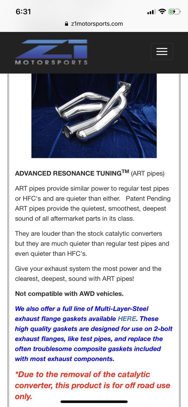 Motordyne Advanced Resonance Tuning (ART) Test Pipes 370z