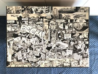 Vintage Comic Book Collage Top Night Stand. Hand Made for Sale in Vacaville,  CA