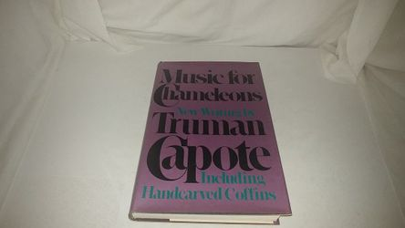 Music for Chameleons New Writing by Truman Capote 1980 VG HC for Sale in La Habra Heights,  CA