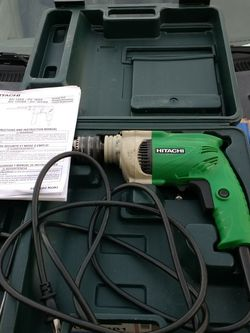 Hitachi Hammer Drill. Drill Setting As Well. Case*** for Sale in Fort Lauderdale,  FL