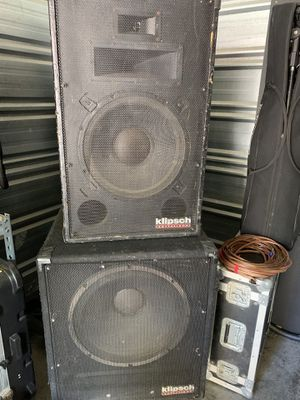 Klipsch sound system pa pro audio stack 4 total speakers subs and tops for Sale in McKnight, PA