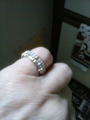 Diamond zirconia ring for Sale in Dubuque, IA