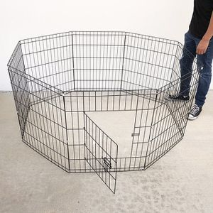 """(NEW) $35 Foldable 30"""" Tall x 24"""" Wide x 8-Panel Pet Playpen Dog Crate Metal Fence Exercise Cage Play Pen for Sale in El Monte, CA"""